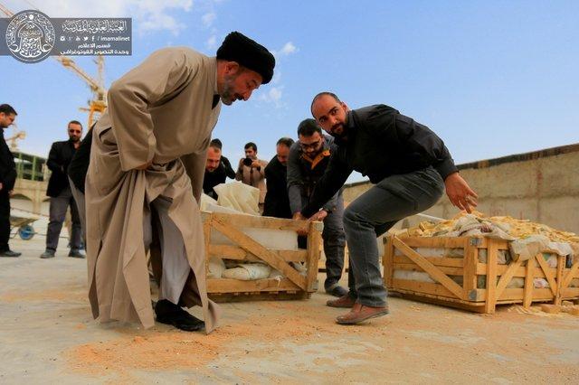 آمادهسازی صحن حضرت زهرا در نجف برای اربعین+تصاویر