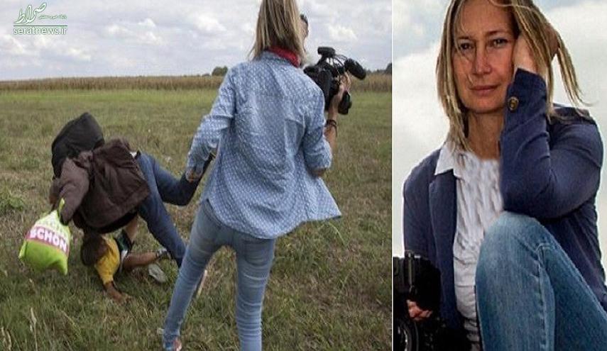 خانم خبرنگار لگد زن جایزه گرفت +عکس