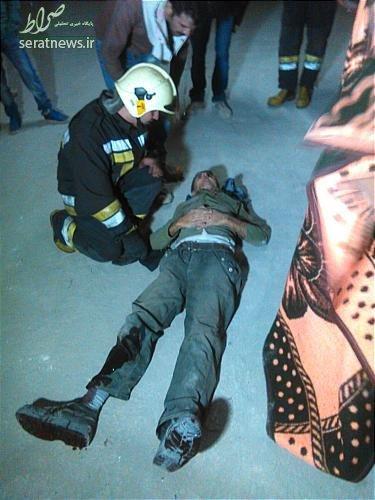 نجات کارگر پس از سقوط ۸ طبقهای +عکس