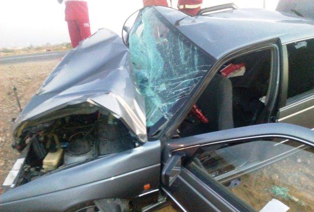 ۶ مجروح در تصادف چذابه +عکس