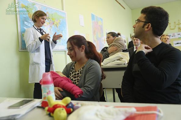 پناهجویان ایرانی در کلاس ویژه پناهندگان در آلمان+تصاویر