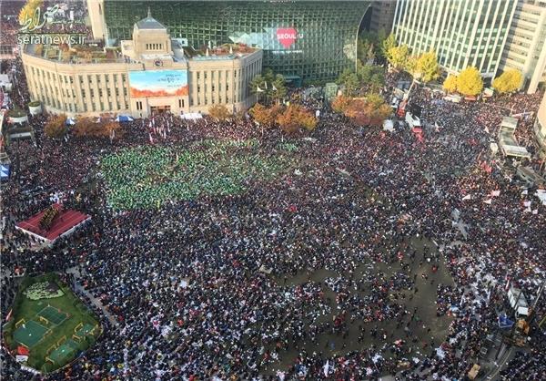 تجمع گسترده علیه رئیسجمهور کره +تصاویر