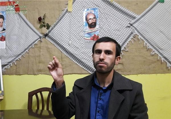 تحصن یک دانشجو دردانشگاه علامه+عکس