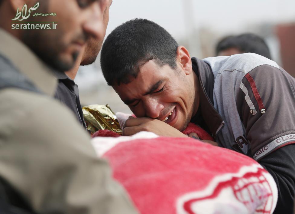 عکس/مرگ یک کودک بر اثر خمپاره داعش در موصل