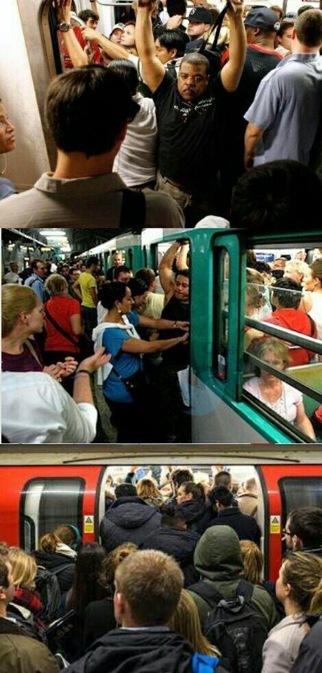 عکس/ساعت شلوغی مترو در نیویورک، پاریس و لندن