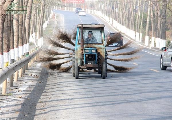 جاروهای جدید کارگران شهرداری چین+تصاویر