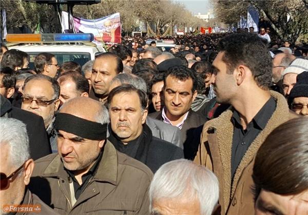 حضور خاموش آخوندی در تبریز/ جرات نکردند نام وزیر راه را ببرند! +عکس