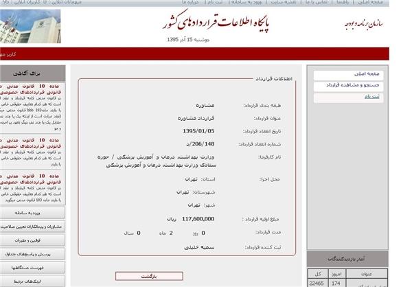 قرارداد 11 میلیونی خانم مشاور +عکس