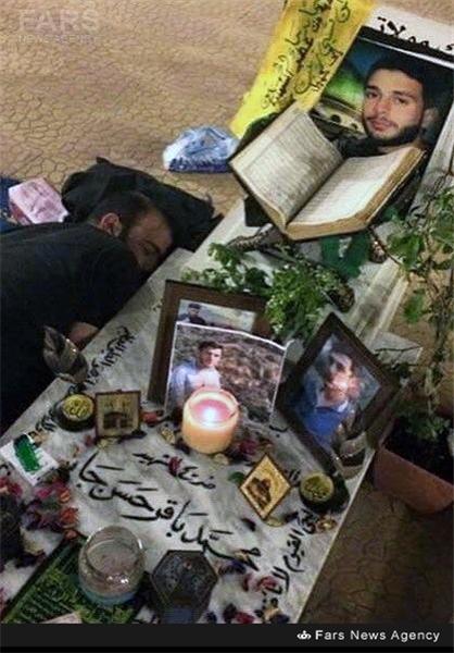 جایی متفاوت برای آرامش شهید حرم +عکس