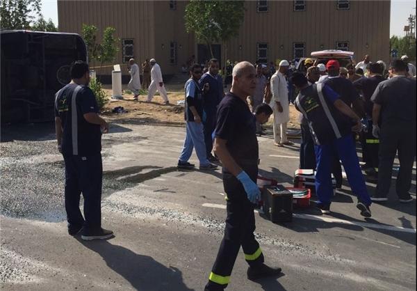 واژگون شدن اتوبوس حامل حجاج در عرفات