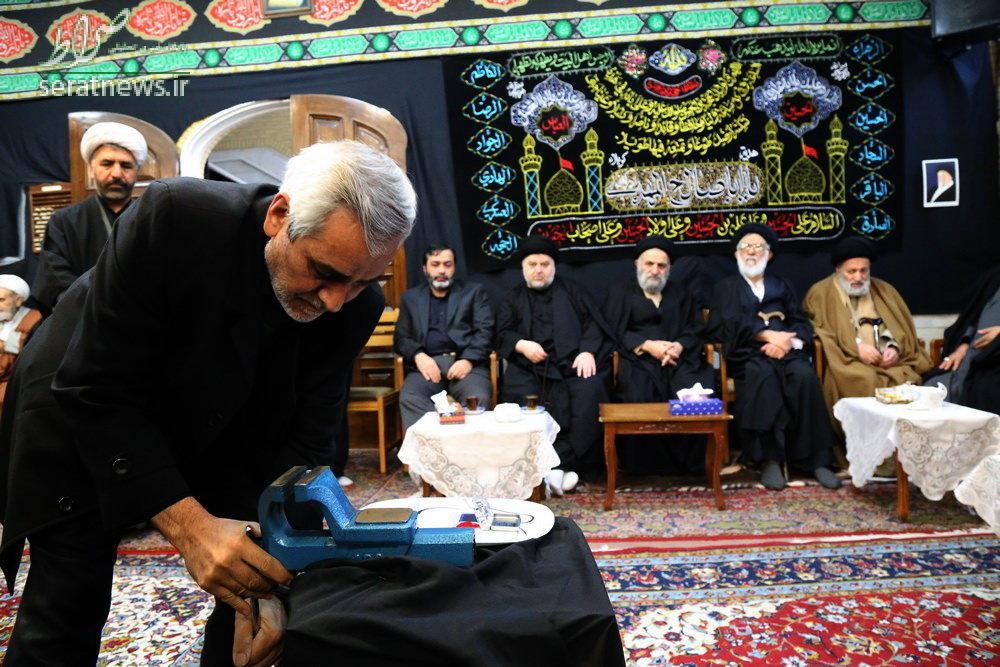 مُهر آیت الله موسوی اردبیلی شکسته شد +عکس