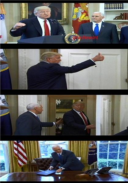 ترامپ یادش رفت امضاء بزند! +عکس
