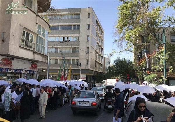 اعتراضات به وزارت بهداشت به مقابل نهاد ریاست جمهوری کشیده شد+تصاویر