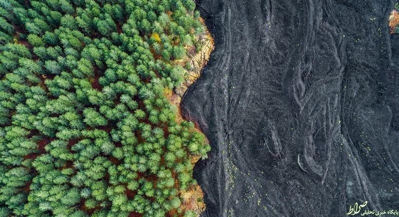 عکس/ فوران کوه آتشفشانی
