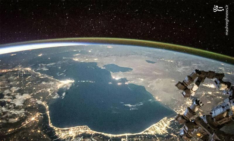 عکس/نمایی شگفت انگیز از دریای خزر
