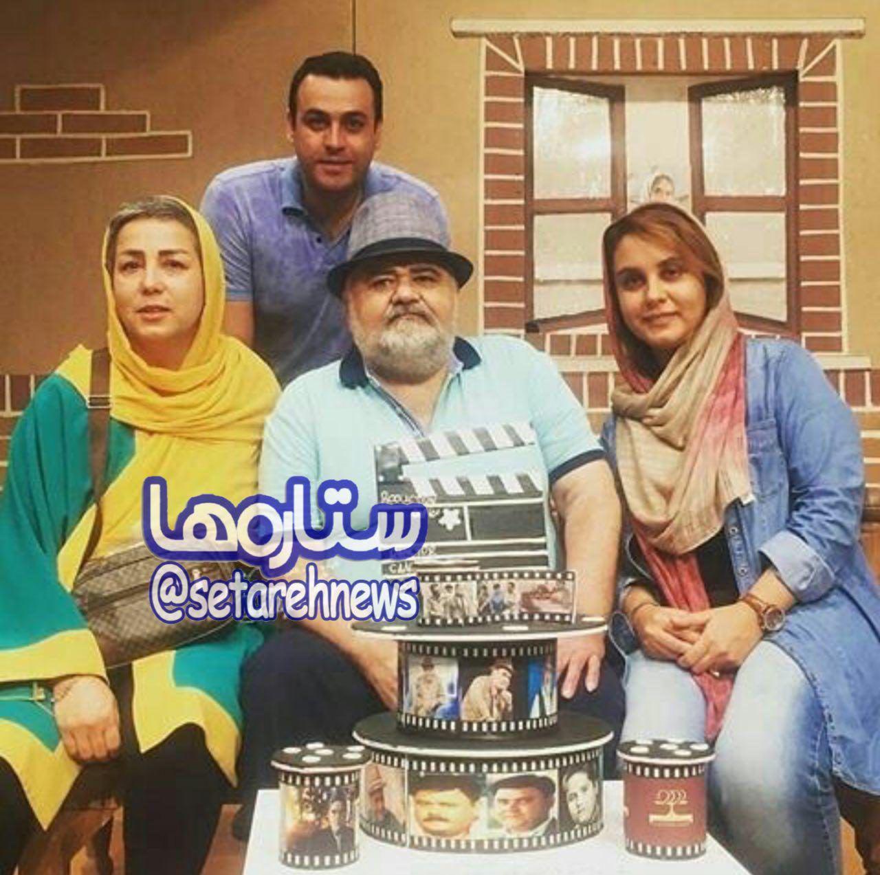 عکس/خانواده «اکبر عبدى» در یک قاب