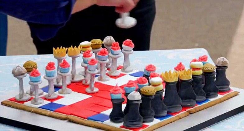 عکس/ شطرنجی از جنس شیرینی
