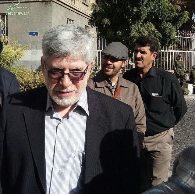 حضور «حمید بقایی» در دادگاه +همراهان