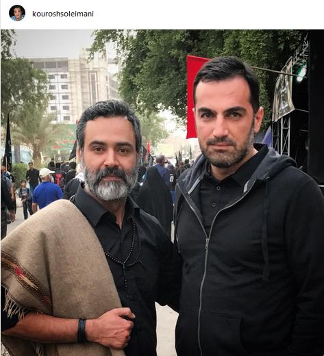 عکس یادگاری دو بازیگر ایرانی در نجف+عکس