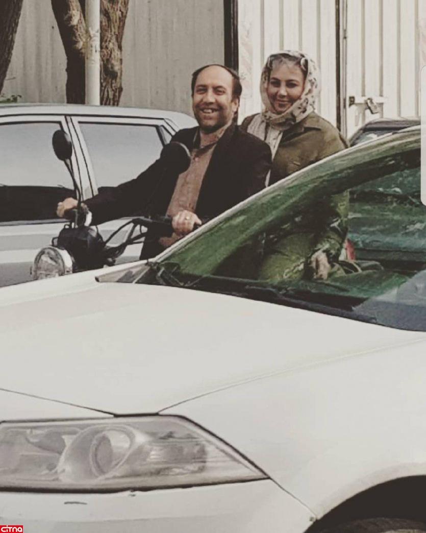 موتورسواری بهنوش بختیاری در خیابانهای تهران+ عکس