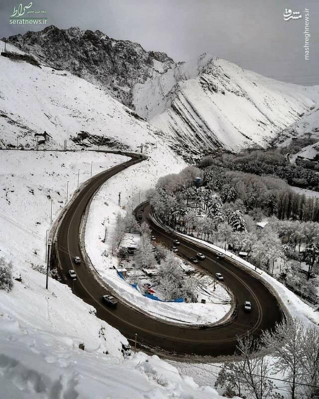 عکس/ نمایی زیبا از جاده چالوس
