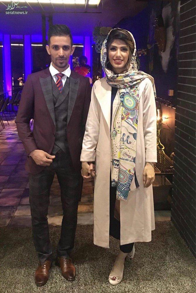 کاپیتانهای تیم فوتبال سپاهان با هم ازدواج کردند +عکس