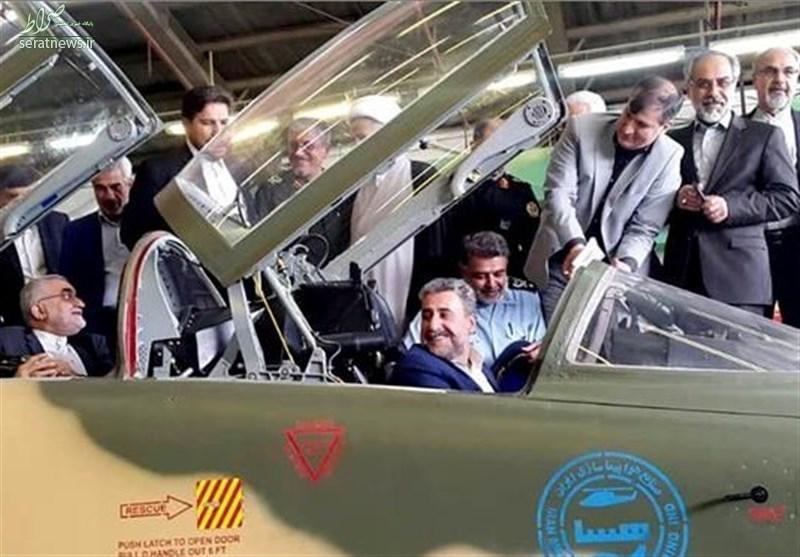 عکس/ بازید رؤسای فعلی و سابق کمیسیون امنیتملی از جنگنده