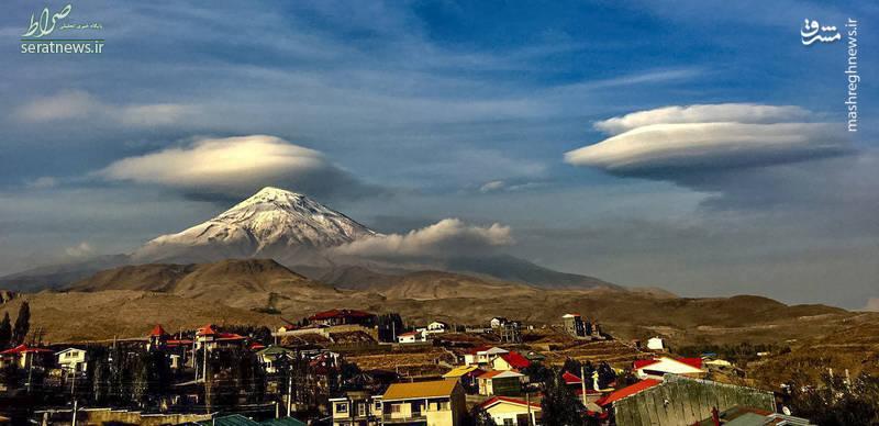 عکس/ نمایی زیبا از قله دماوند