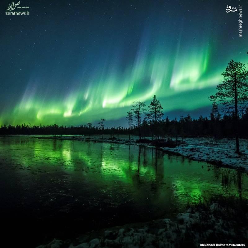 تصاویر/ شفق قطبی در فنلاند