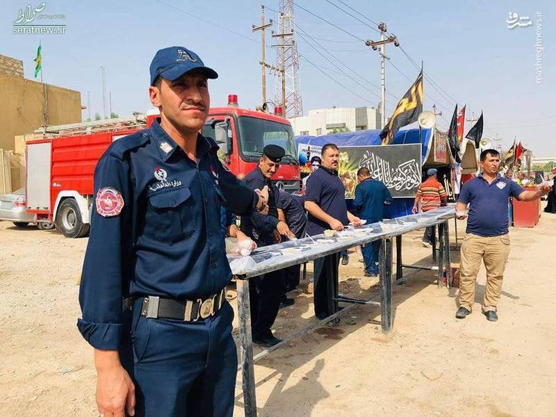 عکس/ موکب آتش نشانان عراقی
