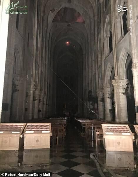 تصاویر/ کلیسای نوتردام پس از آتشسوزی
