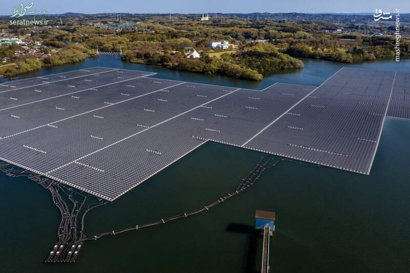 عکس/ بزرگترین نیروگاه خورشیدی شناور ژاپن