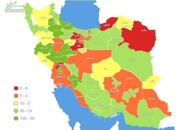۵۷۱۰ بهبودیافته و ۱۱۳۵ جانباخته + نمودار روند غربالگری در کشور