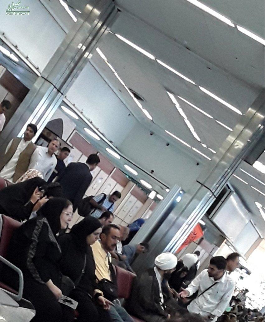 حضور بدون تشریفات امام جمعه تهران در فرودگاه +تصاویر