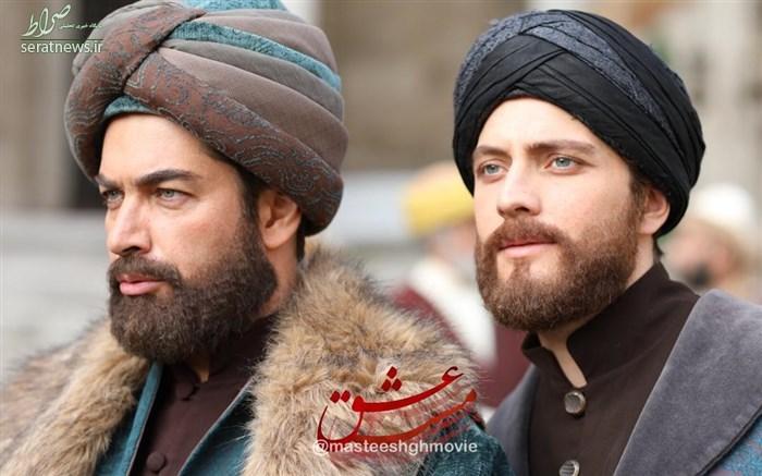 عکس/ گریم پارسا پیروزفر در کنار بازیگر ترکیهایی در مست عشق