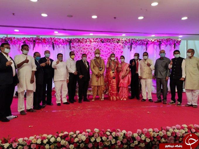 برگزاری جشن عروسی در اوج بحران کرونا! + عکس