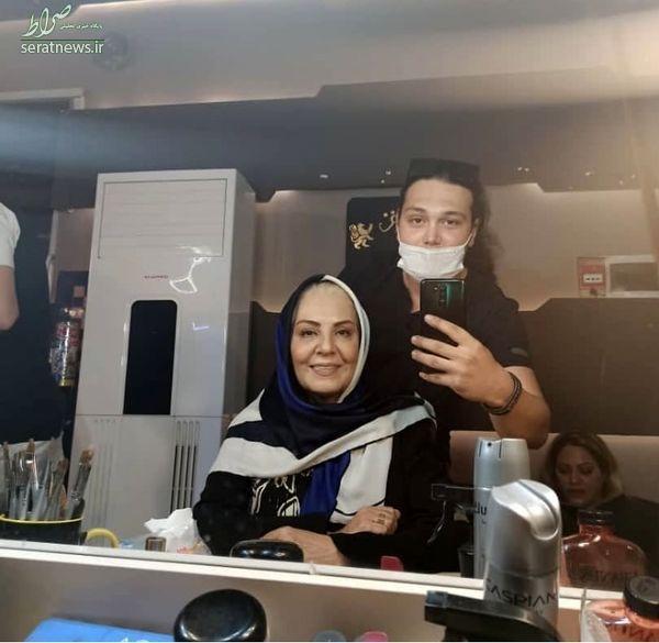 عکس/ زهره حمیدی در حال گریم کار جدیدش