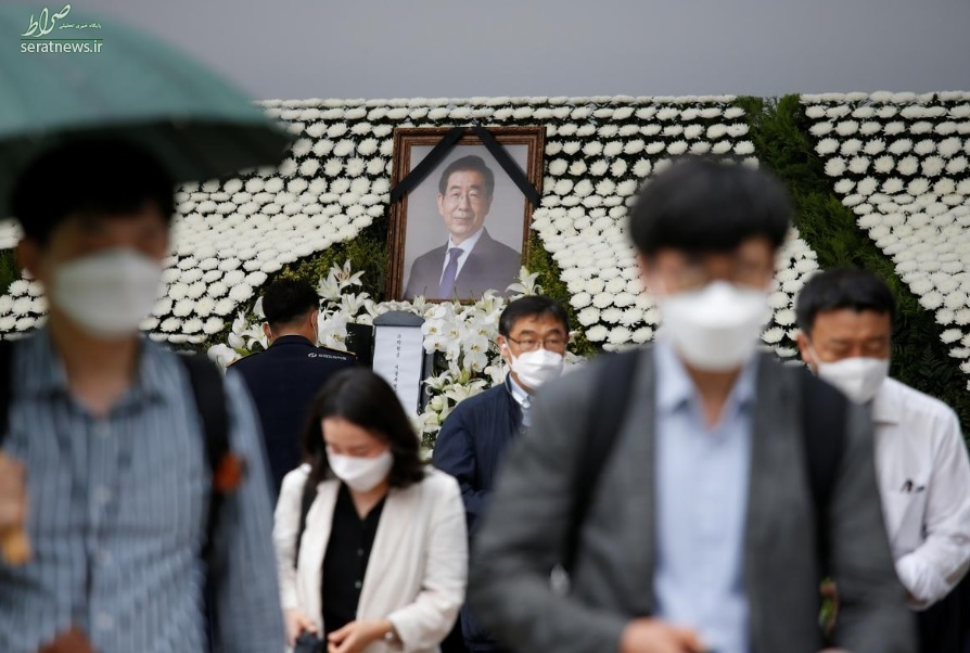 خودکشی شهردار سئول بعد از متهم شدن به آزار جنسی/ تشییع جنازه+ تصاویر