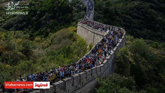 عکسهای باورنکردنی از دیوار چین در اوج کرونا