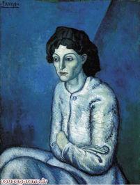 پابلو پیکاسو؛ زن دست به سینه؛ 1902  55در سال 2000 به قیمت 55 میلیون دلار به فروش رسید