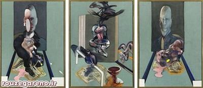 فرانسیس بیکن؛ نقاشی سه قابی، 1976  با فیمت 86،300،000 دلار در سال 2008 فروخته شده است