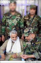 سیدمحمدطباطبائی جانشین دبیرکل گروه عصائب اهل الحق و سردار سلیمانی