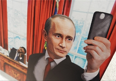 کاریکاتور سیاسی کاریکاتور پوتین کاریکاتور اوباما پیامک های طنز اوباما