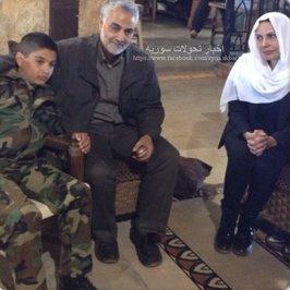 تنها عکس منتشر شده از قاسم سلیمانی در سوریه