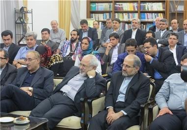 ظریف و سایر اعضای تیم مذاکره کننده هسته ای در حال تماشای مسابقه ایران-نیجریه در وین