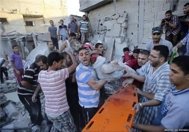 حملات گسترده رژیم صهیونیستی به نوار غزه که به شهادت هزاران فلسطینی منجر شد