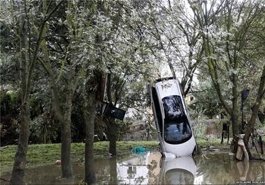 بارش سیلآسای باران در جنوب فرانسه که خسارات شدیدی را در ماه اکتبر به بار آورد