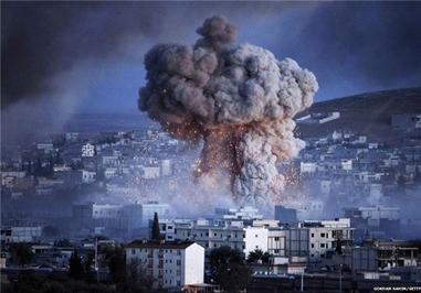 انفجار در شهر کردنشین کوبانی در مرز سوریه-ترکیه