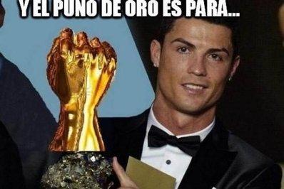 رونالدو، برنده مشت طلای 2015