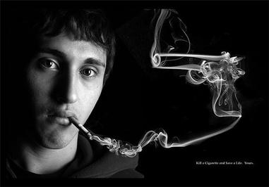 با له کردن سیگار زندگی خود را نجات دهید.